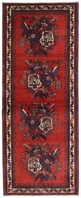 Afshar Rug 83X210 Authentic  Oriental Handknotted Hallway Runner  Dark Red/Dark Brown (Wool, Persia/Iran)