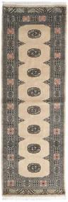 Pakistan Bokhara 2Ply Rug 76X220 Authentic  Oriental Handknotted Hallway Runner  Dark Grey/Beige (Wool, Pakistan)