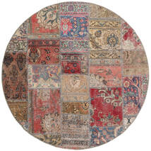 Patchwork - Persien/Iran Rug Ø 150 Authentic Modern Handknotted Round Brown/Light Grey (Wool, Persia/Iran)