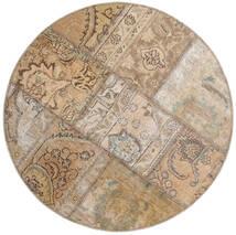 Patchwork - Persien/Iran Rug Ø 100 Authentic  Modern Handknotted Round Light Grey/Light Brown (Wool, Persia/Iran)