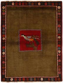 Qashqai Rug 130X170 Authentic Oriental Handknotted Brown/Dark Brown (Wool, Persia/Iran)