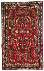 Lillian Rug 80X128 Authentic Oriental Handknotted Dark Brown/Dark Red (Wool, Persia/Iran)