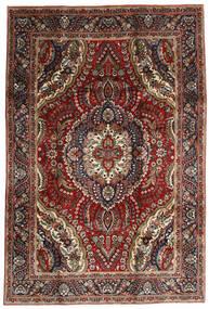 Tabriz Rug 195X288 Authentic  Oriental Handknotted Dark Red/Dark Brown (Wool, Persia/Iran)
