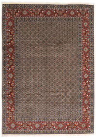 Moud Rug 245X347 Authentic Oriental Handknotted Dark Grey/Dark Red (Wool/Silk, Persia/Iran)