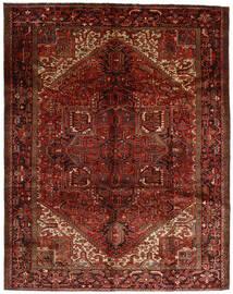 Heriz Rug 300X382 Authentic  Oriental Handknotted Dark Brown/Dark Red Large (Wool, Persia/Iran)