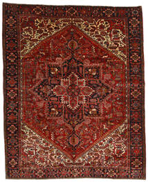 Heriz Rug 314X386 Authentic Oriental Handknotted Dark Red/Dark Brown Large (Wool, Persia/Iran)