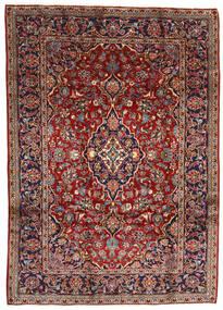 Keshan Rug 196X275 Authentic  Oriental Handknotted Dark Red/Dark Brown (Wool, Persia/Iran)