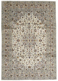 Keshan Rug 246X352 Authentic Oriental Handknotted Light Grey/Dark Grey (Wool, Persia/Iran)