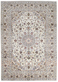 Keshan Rug 252X345 Authentic  Oriental Handknotted Light Grey/Beige Large (Wool, Persia/Iran)