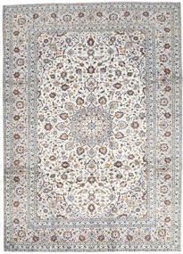 Keshan Rug 250X346 Authentic  Oriental Handknotted Light Grey/Beige Large (Wool, Persia/Iran)