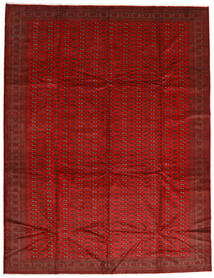 Turkaman Rug 302X388 Authentic  Oriental Handknotted Rust Red/Dark Red Large (Wool, Persia/Iran)