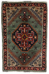 Qashqai Rug 61X92 Authentic Oriental Handknotted Dark Brown/Dark Red/Dark Grey (Wool, Persia/Iran)