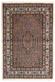 Moud Rug 98X147 Authentic Oriental Handknotted Dark Brown/Dark Red (Wool/Silk, Persia/Iran)