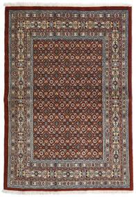 Moud Rug 97X141 Authentic  Oriental Handknotted Dark Brown/Dark Grey (Wool/Silk, Persia/Iran)