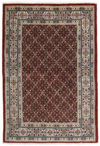 Moud Rug 99X146 Authentic  Oriental Handknotted Dark Red/Light Grey (Wool/Silk, Persia/Iran)