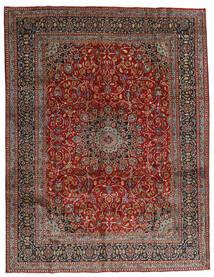 Mashad Rug 297X383 Authentic  Oriental Handknotted Dark Red/Dark Grey Large (Wool, Persia/Iran)