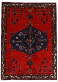 Afshar Rug 164X225 Authentic Oriental Handknotted Black/Rust Red/Dark Red (Wool, Persia/Iran)