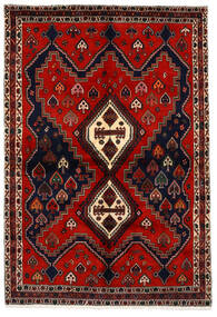 Afshar Rug 159X233 Authentic  Oriental Handknotted Dark Red/Rust Red (Wool, Persia/Iran)