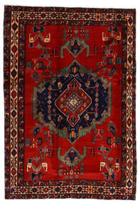 Afshar Rug 169X243 Authentic Oriental Handknotted Dark Red/Rust Red (Wool, Persia/Iran)