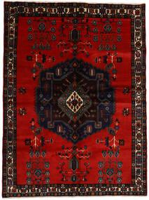Afshar Rug 167X223 Authentic  Oriental Handknotted Black/Dark Red (Wool, Persia/Iran)
