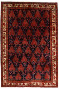 Afshar Rug 200X297 Authentic Oriental Handknotted Dark Brown/Dark Red/Rust Red (Wool, Persia/Iran)