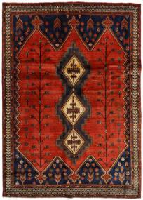 Afshar Rug 176X248 Authentic Oriental Handknotted Dark Brown/Rust Red (Wool, Persia/Iran)