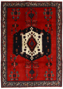 Afshar Rug 188X261 Authentic Oriental Handknotted Black/Rust Red/Dark Red (Wool, Persia/Iran)