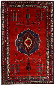 Afshar Rug 157X248 Authentic Oriental Handknotted Dark Red/Rust Red (Wool, Persia/Iran)