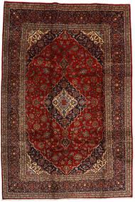 Keshan Rug 206X308 Authentic  Oriental Handknotted Dark Red/Dark Brown (Wool, Persia/Iran)