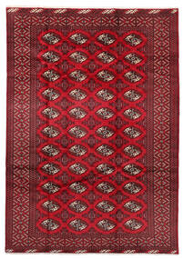 Turkaman Rug 199X282 Authentic Oriental Handknotted Dark Red/Crimson Red (Wool, Persia/Iran)
