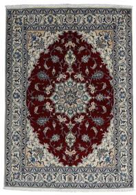 Nain Rug 166X238 Authentic  Oriental Handknotted Dark Grey/Dark Red/Light Grey (Wool, Persia/Iran)