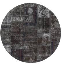 Patchwork - Persien/Iran Rug Ø 200 Authentic  Modern Handknotted Round Black/Brown (Wool, Persia/Iran)