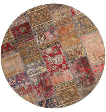 Patchwork - Persien/Iran Rug Ø 200 Authentic  Modern Handknotted Round Brown/Dark Red (Wool, Persia/Iran)