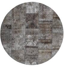 Patchwork - Persien/Iran Rug Ø 200 Authentic  Modern Handknotted Round Dark Grey/Light Grey (Wool, Persia/Iran)