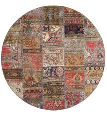 Patchwork - Persien/Iran Rug Ø 200 Authentic  Modern Handknotted Round Dark Red/Light Brown (Wool, Persia/Iran)