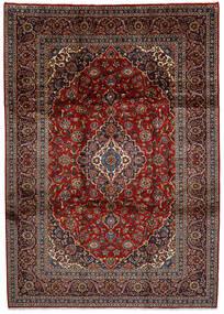 Keshan Rug 252X355 Authentic  Oriental Handknotted Dark Red/Dark Grey Large (Wool, Persia/Iran)