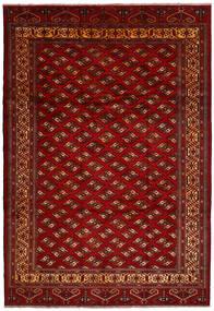 Turkaman Rug 245X356 Authentic Oriental Handknotted Dark Red/Dark Brown (Wool, Persia/Iran)