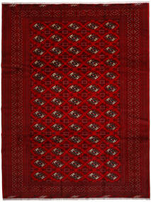 Turkaman Rug 258X344 Authentic  Oriental Handknotted Crimson Red/Dark Red/Dark Brown Large (Wool, Persia/Iran)