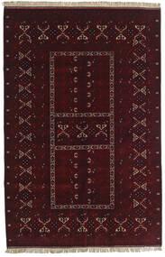 Kunduz Rug 155X238 Authentic  Oriental Handknotted Dark Red (Wool, Afghanistan)
