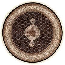 Tabriz Royal Rug Ø 151 Authentic Oriental Handknotted Round Dark Red/Brown ( India)