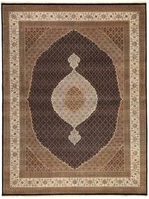 Tabriz Royal Rug 300X395 Authentic  Oriental Handknotted Brown/Dark Brown Large ( India)