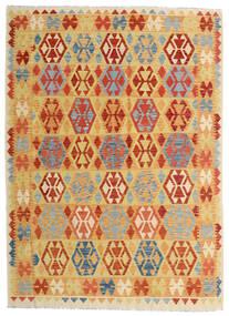 Kilim Afghan Old Style Rug 182X252 Authentic  Oriental Handwoven Dark Beige/Orange (Wool, Afghanistan)