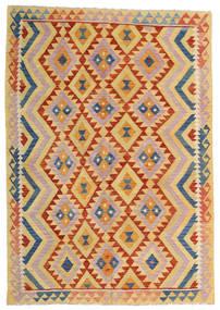 Kilim Afghan Old Style Rug 176X252 Authentic  Oriental Handwoven Dark Beige/Light Pink (Wool, Afghanistan)