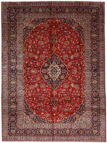 Keshan Rug 278X377 Authentic  Oriental Handknotted Dark Red/Dark Brown Large (Wool, Persia/Iran)