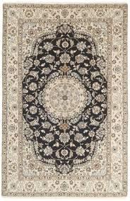 Nain 9La Rug 154X243 Authentic Oriental Handknotted Light Grey/Beige (Wool/Silk, Persia/Iran)