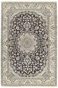 Nain 9La Rug 134X205 Authentic  Oriental Handknotted Light Grey/Dark Grey/Beige (Wool/Silk, Persia/Iran)