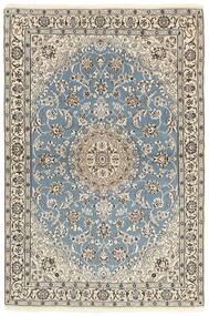 Nain 9La Rug 118X177 Authentic  Oriental Handknotted Light Grey/Beige (Wool/Silk, Persia/Iran)