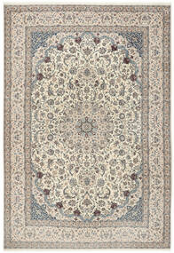 Nain 6La Rug 260X380 Authentic  Oriental Handknotted Light Grey/Beige Large (Wool/Silk, Persia/Iran)