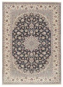 Isfahan Silk Warp Rug 253X360 Authentic  Oriental Handknotted Light Grey/Black Large (Wool/Silk, Persia/Iran)