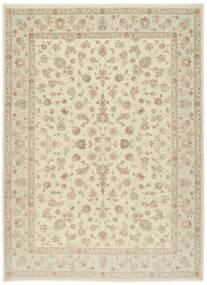 Tabriz 60 Raj Silk Warp Rug 255X343 Authentic Oriental Handknotted Beige/Dark Beige Large (Wool/Silk, Persia/Iran)